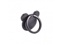 Suport inel universal telefon Oatsbasf Bear Ring 360, Negru, Blister