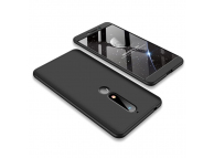 Husa Plastic OEM Full Cover pentru Nokia 6.1, Neagra, Bulk