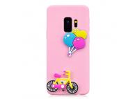 Husa TPU OEM Bicycle and Balloon pentru Samsung Galaxy S9 G960, Multicolor, Bulk