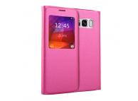 Husa Piele OEM Litchi Smart View pentru Samsung Galaxy S8 G950, Ciclam, Bulk