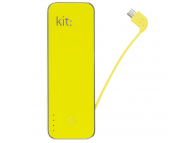 Baterie Externa Powerbank Kit PWR4500YL, 4500 mAh, 1 x USB, Galbena, Blister