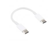 Cablu Date si Incarcare USB Type-C la USB Type-C OEM, 0.15 m, Alb, Bulk