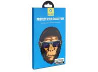 Folie Protectie Ecran Mr. Monkey Glass pentru Apple Watch Series 4 40mm, Sticla securizata, Full Face, Full Glue, Hot Bending, Neagra, Blister
