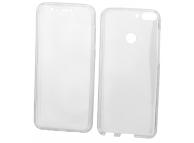 Husa TPU OEM Full Cover pentru Samsung Galaxy A6+ (2018) A605, Transparenta, Bulk