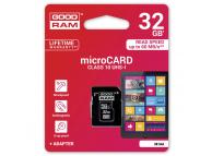 Card Memorie MicroSDHC GoodRam cu adaptor, 32Gb, Clasa 10 - UHS-1 U1, Blister