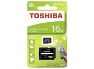Card Memorie MicroSDHC Toshiba cu adaptor, 16Gb, Clasa 10 - UHS-1 U1, Blister