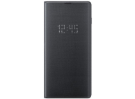 Husa Textil Samsung Galaxy S10+ G975, Led View, Gri, Blister EF-NG975PBEGWW