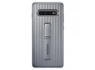 Husa Plastic Samsung Galaxy S10+ G975, Standing, Argintie, Blister EF-RG975CSEGWW