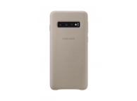 Husa Piele Samsung Galaxy S10 G973, Leather Cover, Bej, Blister EF-VG973LJEGWW