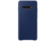 Husa Piele Samsung Galaxy S10+ G975, Leather Cover, Bleumarin EF-VG975LNEGWW