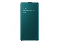 Husa Plastic Samsung Galaxy S10e G970, Clear view, Verde, Blister EF-ZG970CGEGWW