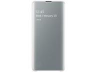 Husa Plastic Samsung Galaxy S10 G973, Clear View, Alba, Blister EF-ZG973CWEGWW