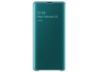 Husa Plastic Samsung Galaxy S10+ G975, Clear View, Verde, Blister EF-ZG975CGEGWW