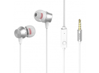 Handsfree Casti In-Ear HOCO M51, Cu microfon, 3.5 mm, Alb, Blister