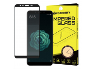 Folie Protectie Ecran WZK pentru Xiaomi Mi A2 (Mi 6X), Sticla securizata, Full Face, Full Glue, Neagra, Blister