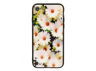 Husa TPU Vennus White Flower cu spate din sticla pentru Apple iPhone X / Apple iPhone XS, Multicolor, Bulk