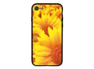 Husa TPU  Vennus Sun Flower cu spate din sticla pentru Apple iPhone X / Apple iPhone XS, Multicolor, Bulk