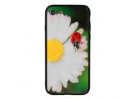 Husa TPU Vennus Bug Flower cu spate din sticla pentru Apple iPhone X / Apple iPhone XS, Multicolor, Bulk