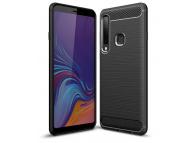 Husa TPU OEM Carbon pentru Samsung Galaxy A9 (2018), Neagra, Blister