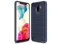 Husa TPU OEM Carbon pentru Xiaomi Pocophone F1, Bleumarin, Blister