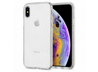Husa TPU Spigen Liquid Crystal Glitter Quartz pentru Apple iPhone X / Apple iPhone Xs, Transparenta, Blister, 063CS25111