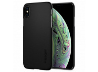 Husa Plastic Spigen Thin Fit pentru Apple iPhone X / Apple iPhone XS, Neagra, Blister 063CS24904
