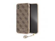 Husa TPU Guess Charms 4G pentru Apple iPhone XS Max, Maro, Blister GUHCI65GF4GBR