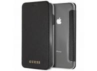 Husa Piele Guess Iridescent pentru Apple iPhone XS Max, Neagra, Blister GUFLBKI65IGLTBK