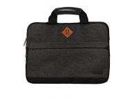 Geanta textil laptop 15.5 inci  FASHION, Gri - Neagra