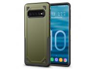Husa Plastic OEM Rugged Armor pentru Samsung Galaxy S10+ G975, Verde, Bulk