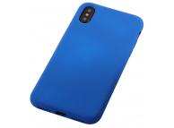 Husa TPU OEM Liquid Silicone pentru Apple iPhone XS Max, Albastra, Bulk