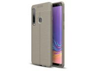 Husa TPU OEM Litchi pentru Samsung Galaxy A9 (2018), Gri, Bulk