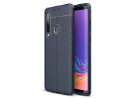Husa TPU OEM Litchi pentru Samsung Galaxy A9 (2018), Bleumarin, Bulk