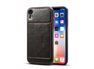 Husa Dibase Crazy Horse pentru Apple iPhone XR, Neagra, Bulk