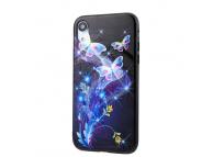 Husa TPU OEM Blue Butterfly pentru Apple iPhone XR, Multicolor, Bulk