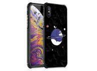 Husa TPU OEM Antisoc Blue Whale & Universe pentru Apple iPhone XR, Neagra, Bulk