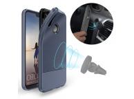 Husa TPU DUX DUCIS MOJO Carbon Magnetic pentru Huawei P20 Lite, Bleumarin, Blister