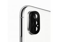 Rama protectie camera spate Enaky Pentru Apple iPhone XS, Neagra, Blister