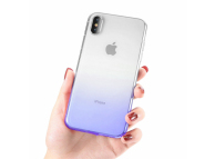 Husa TPU OEM Ombre pentru Samsung Galaxy A6 (2018) A600, Albastra, Bulk
