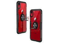 Husa Plastic - TPU OEM Magnetic Ring pentru Apple iPhone XR, Neagra, Bulk