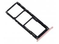 Suport Card - Suport SIM Roz Auriu Asus Zenfone 4 Max ZC520KL