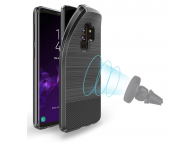 Husa TPU DUX DUCIS MOJO Carbon Magnetic pentru Samsung Galaxy S9+ G965, Neagra, Blister