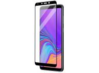 Folie Protectie Ecran WZK pentru Samsung Galaxy A9 (2018), Sticla securizata, Full Face, Full Glue, Neagra, Blister