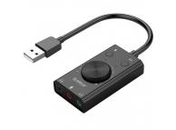 Placa De Sunet USB Orico Driver-free, Neagra, Blister