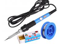 Set Letcon / Ciocan de lipit electric OEM, 4in1, 60W, buton reglare temperatura
