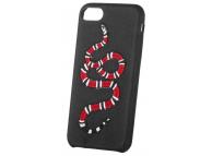 Husa TPU OEM Red Snake pentru Apple iPhone 7 / Apple iPhone 8, Neagra, Bulk