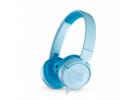 Casti Kids On-Ear JBL JR 300, Fara microfon, 3.5 mm, Bleu, Blister