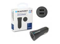 Incarcator Auto USB Blaupunkt, 2.4A, 2 X USB, Negru, Blister BP-CC2DB-24A