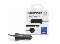Incarcator Auto cu fir spiralat USB Tip-C Blaupunkt, 2.4A, Negru, Blister BP-CCBIRB-24A