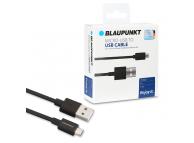 Cablu Date si Incarcare USB la MicroUSB Blaupunkt, 1.2 m, Negru, Blister BP-MCB12-T